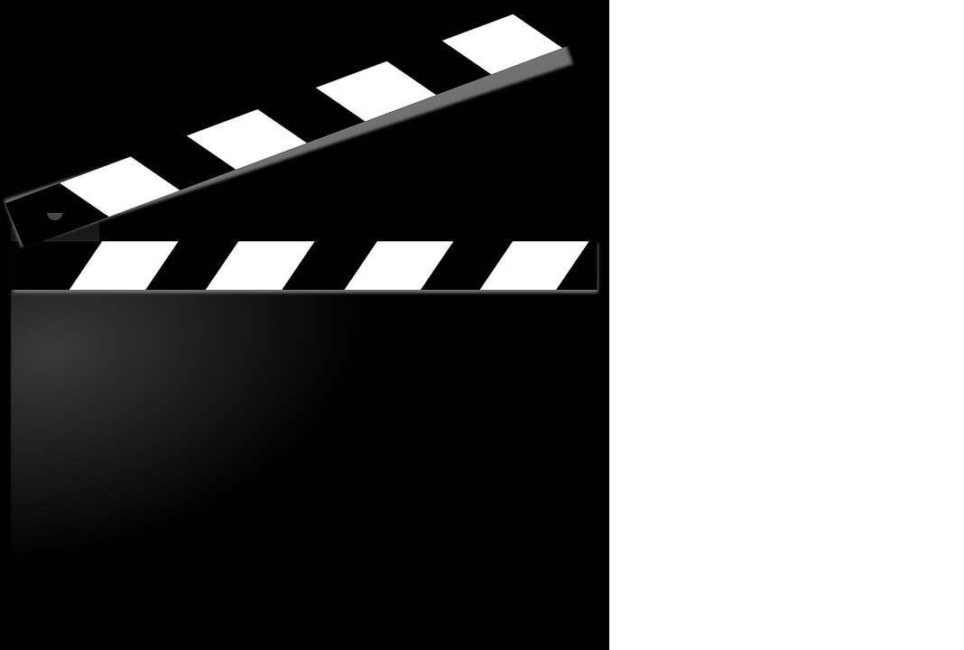 open black and white clapperboard